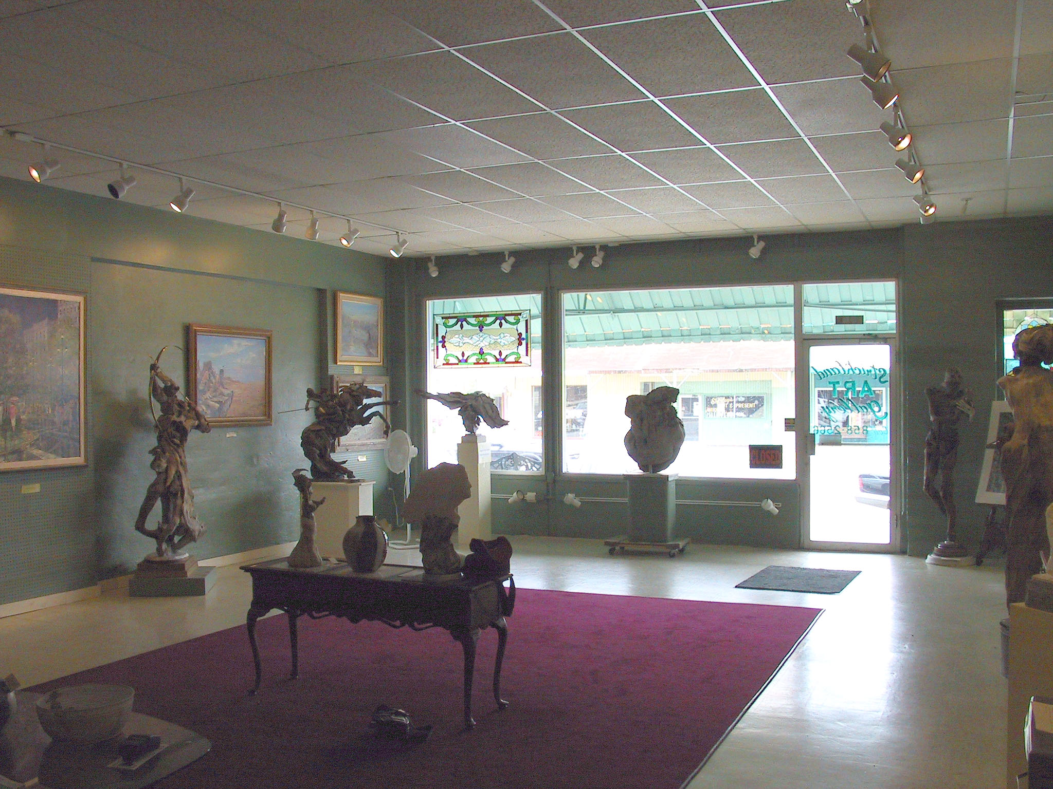 Strickland Art Gallery, where Larry Strickland's art is 	displayed.