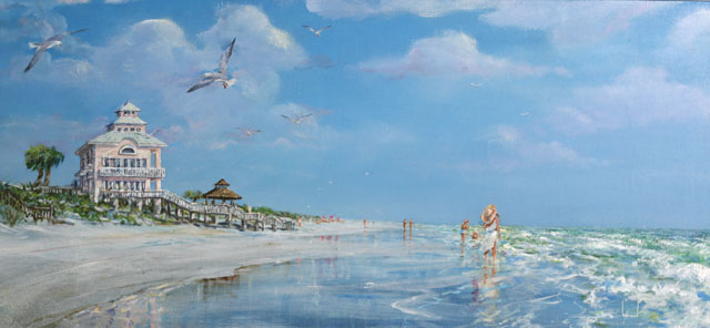 Oil Painting by Larry Strickland entitled On the Beach